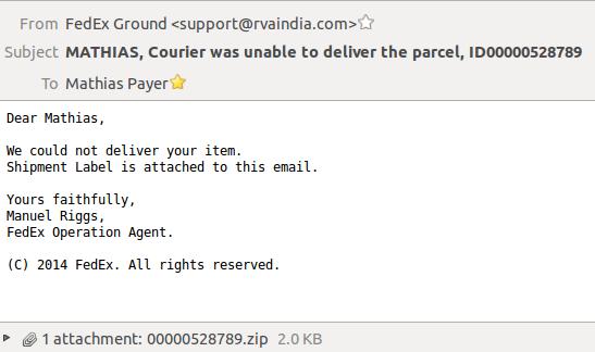 Reversing JS email malware